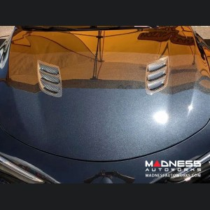 Alfa Romeo Stelvio Hood Air Vent Trim Kit - Quadrifoglio - Carbon Fiber