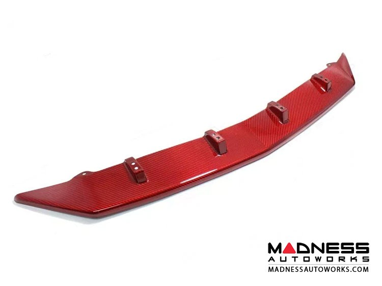 Alfa Romeo Stelvio Carbon Fiber Front Splitter - Quadrifoglio - Red Candy