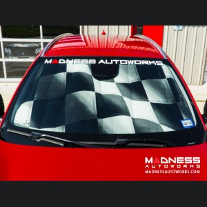 Alfa Romeo Giulia Windshield Custom Sunshade - Racing Flag Design