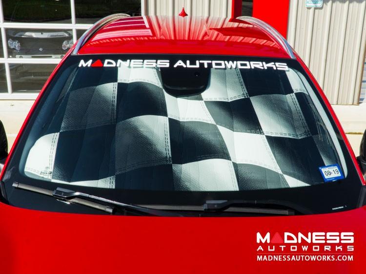 Alfa Romeo Stelvio Windshield Custom Sunshade - Racing Flag Design