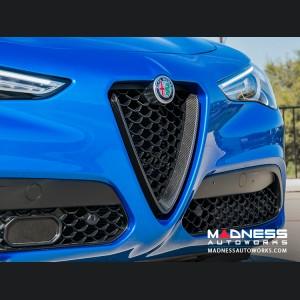 Alfa Romeo Stelvio Front V Shield Grill Frame - Carbon Fiber - Feroce