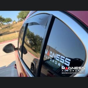 Alfa Romeo Stelvio Side Window Air Deflectors - Front/ Rear 4 Piece Set - Full Size Deflectors