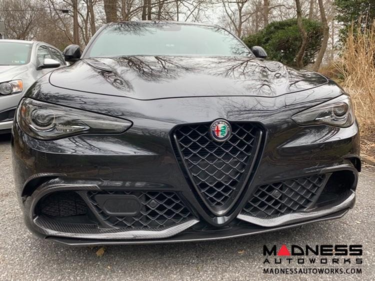 Alfa Romeo Giulia Hood Vents - Carbon Fiber - Quadrifoglio - Aggressive