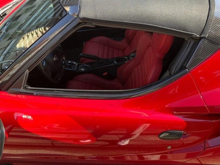 Alfa Romeo 4C Carbon Fiber External Window Door Lower Frame Trim Kit
