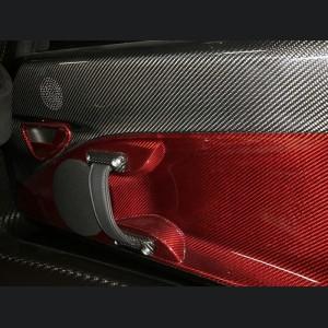 Alfa Romeo 4C Carbon Fiber Interior Door Handle Trim Set