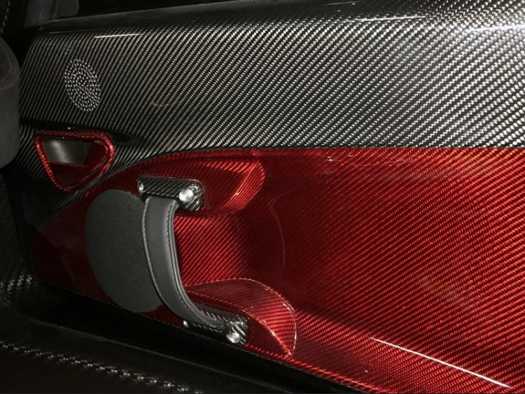 Alfa Romeo 4C Carbon Fiber Interior Door Handle Trim Set