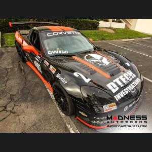 Chevrolet Corvette Carbon Fiber Hood - Anderson Composites - C6 - Le Mans Style