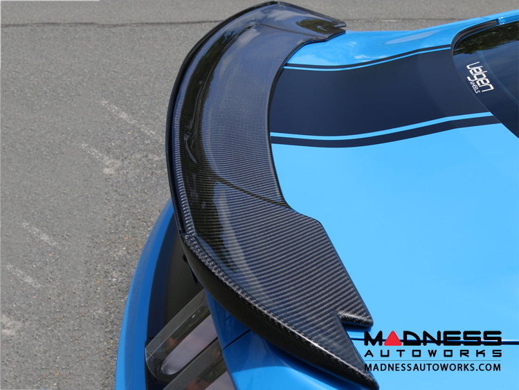 Ford Mustang Track Pack Style Spoiler w/ Adjustable Wickerbill by Anderson Composites - Carbon Fiber