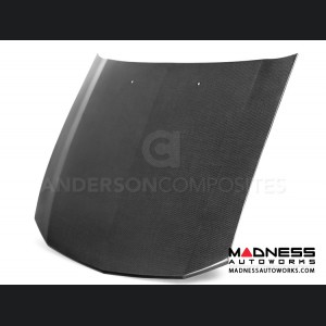 Ford Mustang OEM Style Hood by Anderson Composites - Carbon Fiber