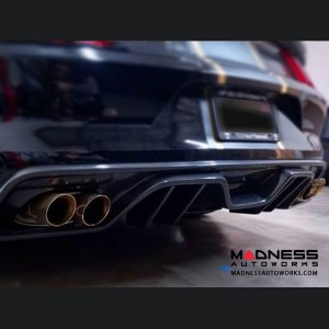Ford Mustang Type ARQ Rear Diffuser by Anderson Composites -  Carbon Fiber - Quad Tip