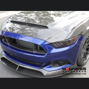 """Ford Mustang Double Sided Hood by Anderson Composties - Carbon Fiber - """"Super Snake"""""""