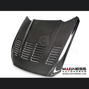 Ford Mustang Type TW Hood by Anderson Composites - Carbon Fiber - Double Sided