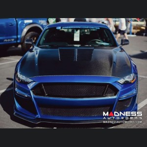 Ford Mustang Front Bumper - Anderson Composties - Fiberglass W/ Carbon Fiber - Type-ST GT500 Style