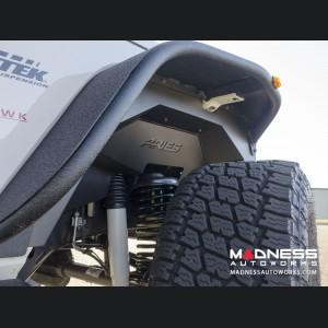 Jeep Wrangler JL Inner Fender Liners - Front - Carbide Black Powdercoat
