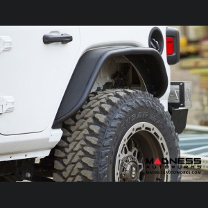 Jeep Wrangler JL Fender Flares - Rear - Textured Black Powdercoat