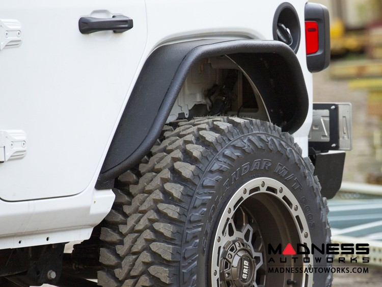 Jeep Wrangler JL Fender Flares - Rear - Textured Black Powdercoat