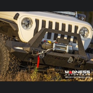 Jeep Wrangler JL Trailchaser Bumper Corners - Front - Textured Black Powdercoat - Carbon Steel