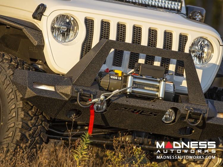 Jeep Wrangler JL Trailchaser Bumper Corners - Front - Textured Black Powdercoat - Carbon Steel