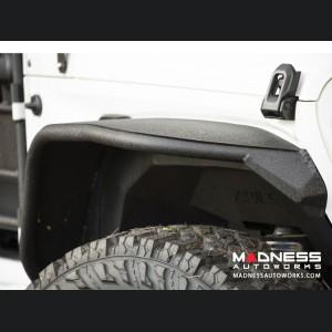 Jeep Wrangler JL Trailchaser Front Steel Bumper w/ Aluminum Fender Flares - Option 9 - Carbon Steel