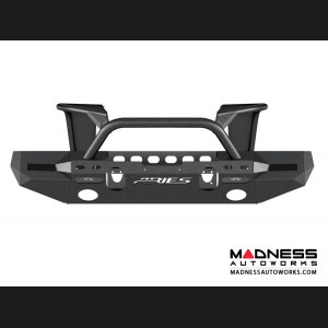 Jeep Wrangler JL Trailchaser Front Bumper w/ Aluminum Fender Flares - Option 8 - Carbon Steel