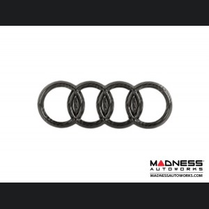 "Audi Rear Emblem by Feroce - 7"" (178.8mm) - Carbon Fiber"