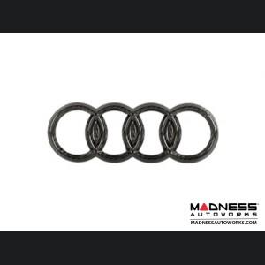 "Audi Rear Emblem by Feroce - 7"" (178.8mm) - Carbon Fiber"