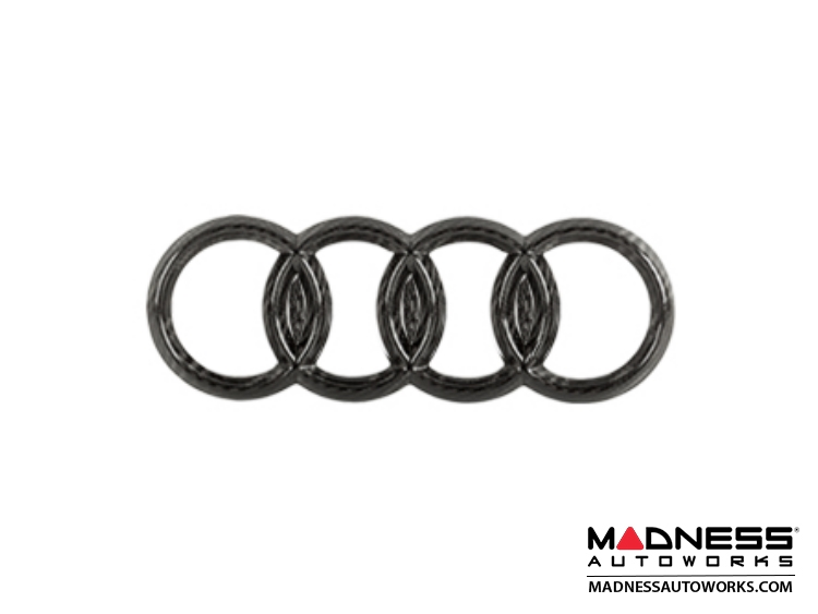 Audi Audi Rear Emblem By Feroce Mm Carbon Fiber - Audi emblem