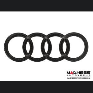"Audi Rear Emblem by Feroce - 8.5"" (216mm) - Carbon Fiber"