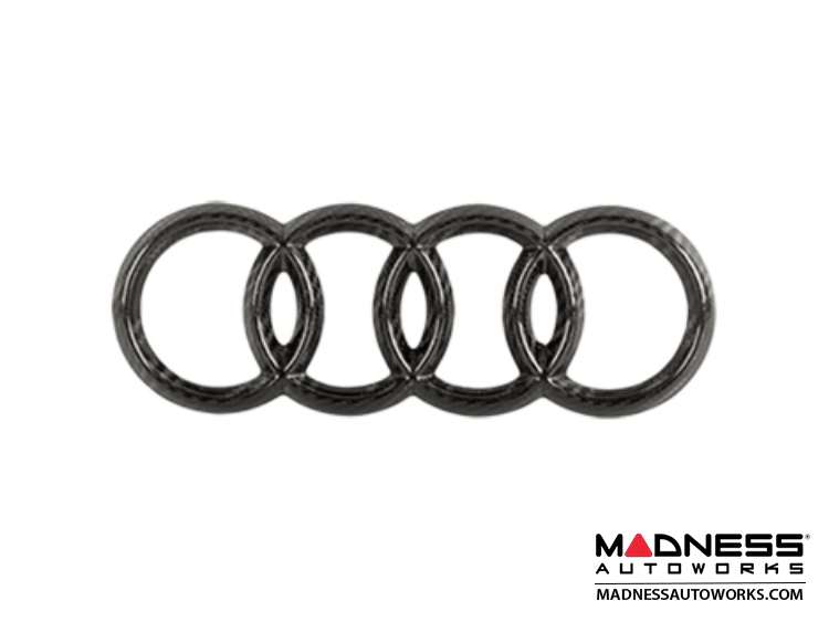 "Audi Rear Emblem by Feroce - 8.5"" (216mm) - Carbon Fiber"