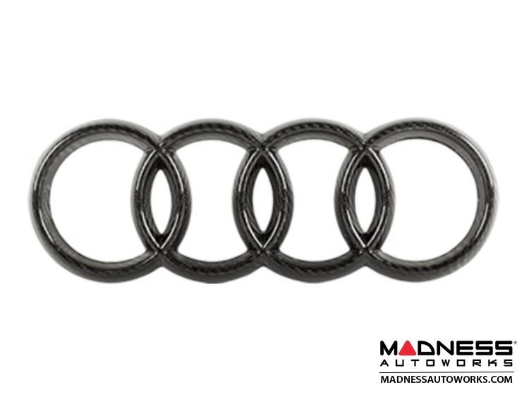 """Audi Grille Emblem by Feroce - 10.75"""" (274mm) - Carbon Fiber"""