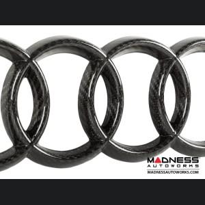 """Audi Grille Emblem by Feroce - 11.25"""" (286mm) - Carbon Fiber"""