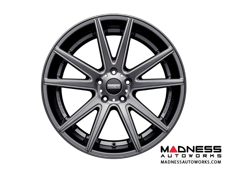 Audi A6 Custom Wheels by Fondmetal - Gloss Titanium Milled