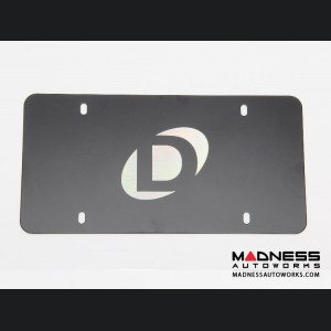 Dinan Marque Plate with Centered Logo - Black