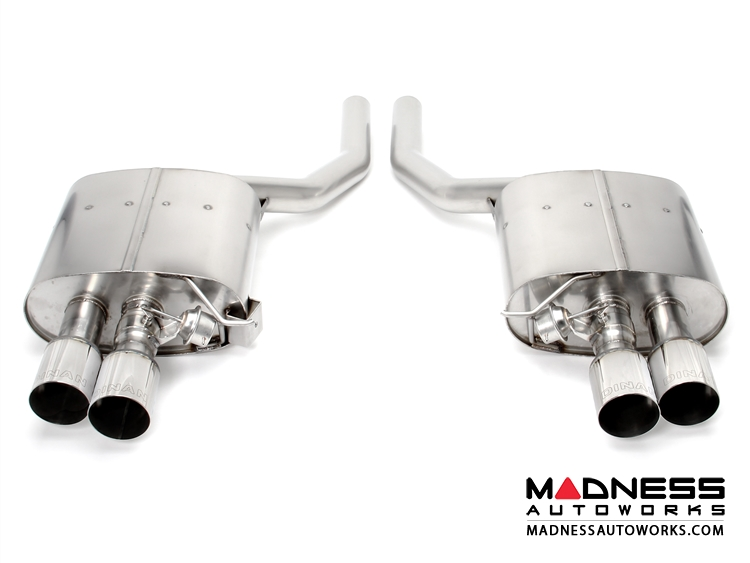 BMW 550i/ xDrive F10 Performance Exhaust by Dinan - Polished Quad Tips