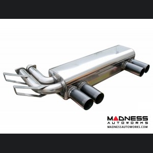 BMW M3 E46 Stainless Exhaust by Dinan - Black Quad Tips