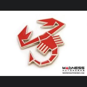 ABARTH Scorpion Emblem (Red) - Metal