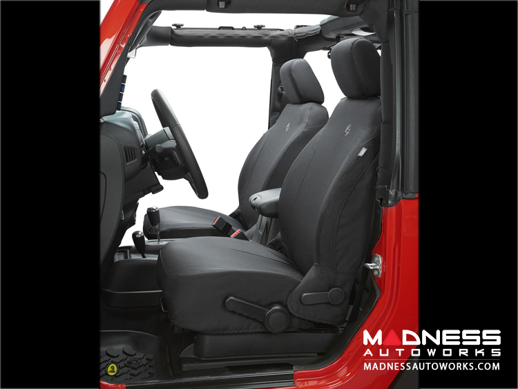 Jeep Wrangler JK Front Seat Covers by Bestop - Black Diamond (2 dr/ 4 dr)