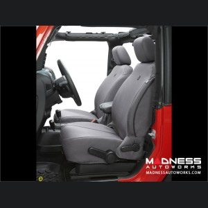 Jeep Wrangler JK Front Seat Covers by Bestop - Charcoal (2 dr/ 4 dr)