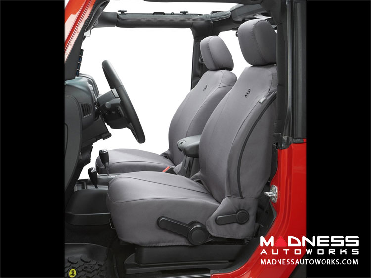 Jeep Wrangler JK Front Seat Covers by Bestop - Charcoal (2 dr/ 4dr)