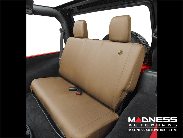 Jeep Wrangler Unlimited Rear Seat Covers by Bestop - Tan - 2007