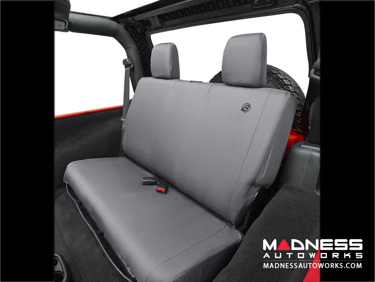 Jeep Wrangler Unlimited Rear Seat Covers by Bestop - Charcoal - 2007