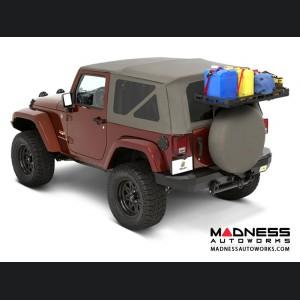 Jeep Wrangler HighRock Tailgate Rack Bracket System by Bestop - Black (2 dr/ 4 dr)