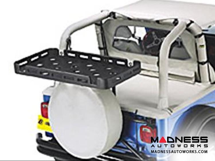 Jeep Wrangler Universal Power Step Tray For HighRock 4x4 Racks by Bestop - Black