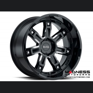 "Jeep Wrangler JL Custom Wheels by Black Rhino - 17 x 9.5"" - Locker - Gloss Black w/ Milled Spokes"