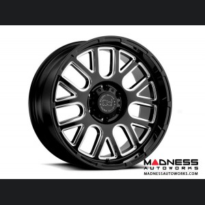 Jeep Wrangler JL Custom Wheels by Black Rhino - 17 x 9.5 - Prismo - Gloss Black w/ Milled Spokes