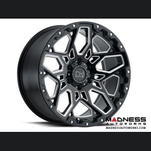 Jeep Wrangler JL Custom Wheels by Black Rhino - 17 x 9.5 - Shrapnel - Gloss Black w/ Milled Spokes