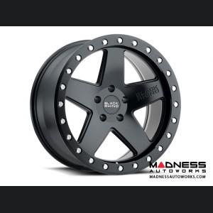 Jeep Wrangler JL Custom Wheels by Black Rhino - 17 x 9.5 - Crawler - Matte Black w/ Silver Bolts