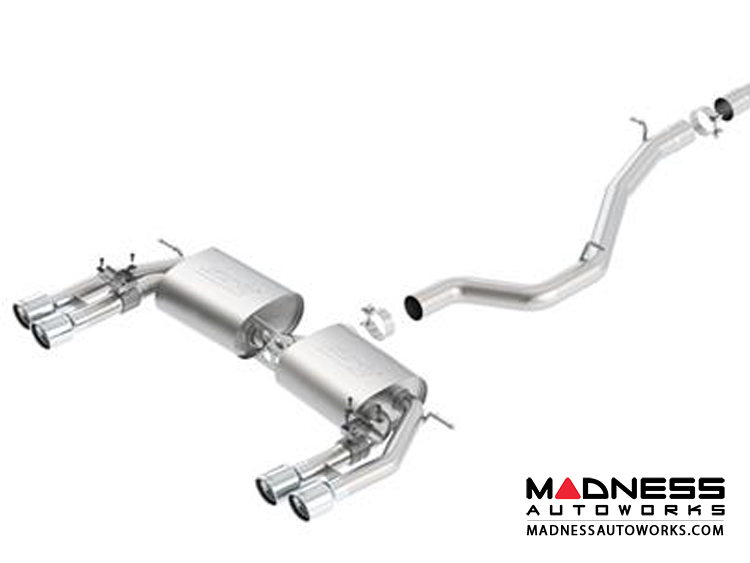 Audi S3 Performance Exhaust by Borla - Cat-Back Exhaust - S Type (2013-2015) Dual Tip