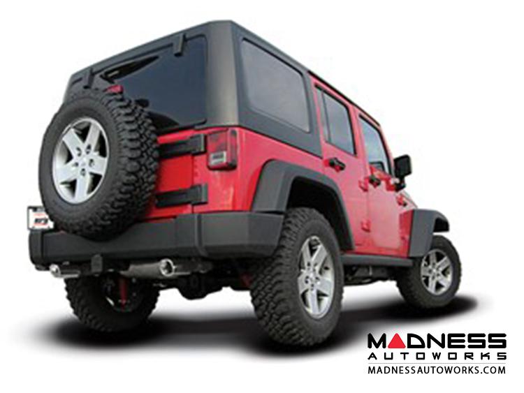 Jeep Wrangler JK (4-door) - Performance Exhaust by Borla - Cat-Back Exhaust - Touring (2012-2014)