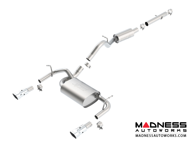 Jeep Wrangler JK (2-door) - Performance Exhaust by Borla - Cat-Back Exhaust - Touring (2012-2014)